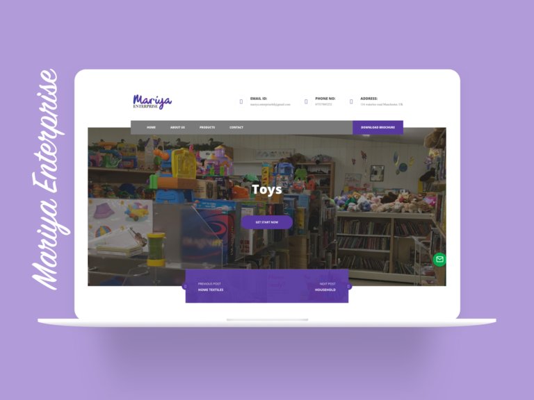 Mariya Enterprises UK - Website Design